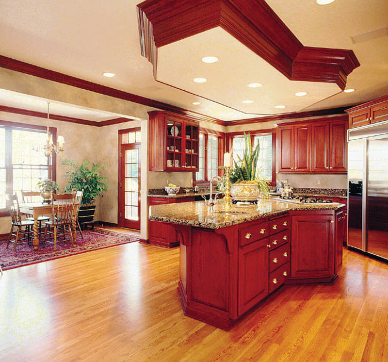 European House Plan Kitchen Photo 01 011D-0034
