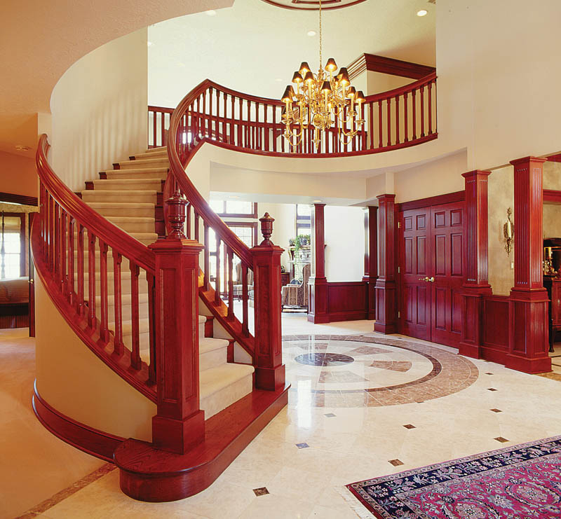 European House Plan Stairs Photo 011D-0034