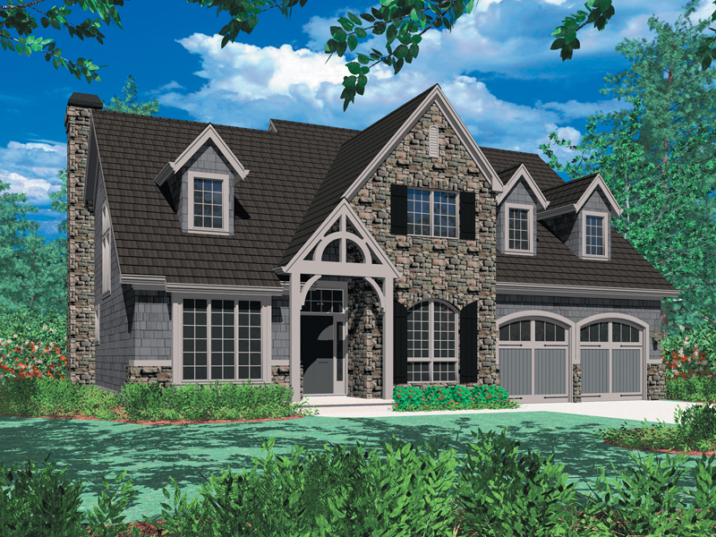 English Tudor House Plan Front Image - 011D-0043 | House Plans and More