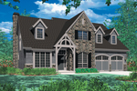 Tudor House Plan Front Image - 011D-0043 | House Plans and More