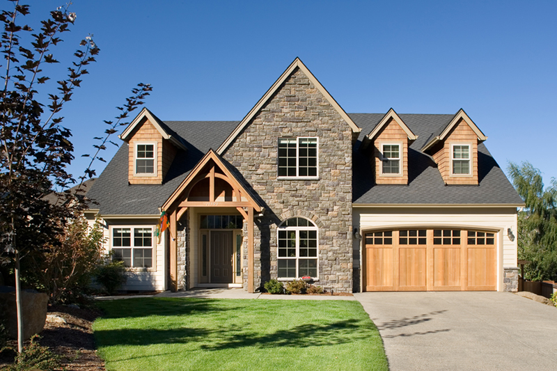 European House Plan Front of Home 011D-0043