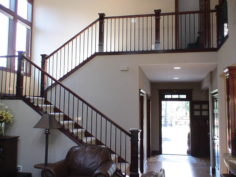 Rustic Home Plan Stairs Photo 01 011D-0043