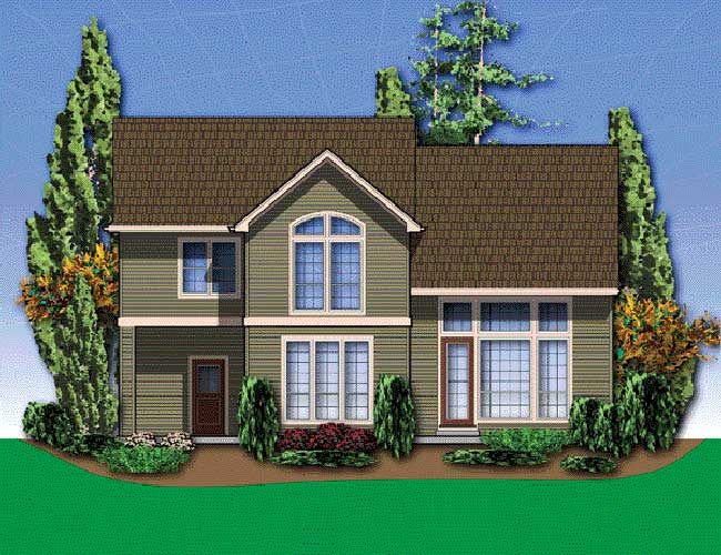 Craftsman House Plan Rear Photo 01 - 011D-0050 | House Plans and More