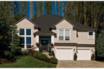 Contemporary House Plan Front of Home - 011D-0053 | House Plans and More
