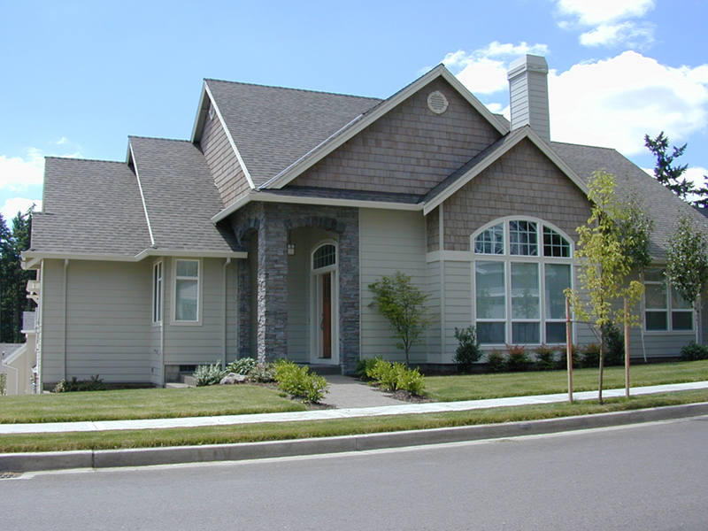 Ranch House Plan Front of Home 011D-0057