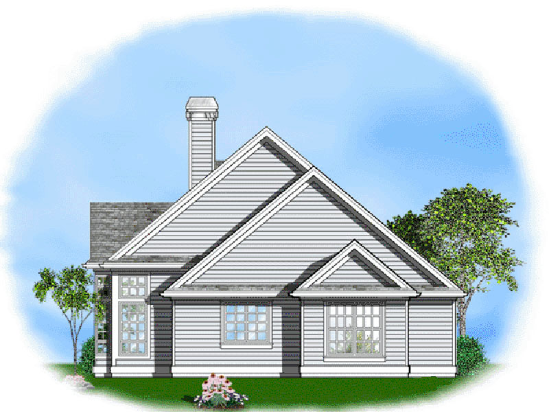 Ranch House Plan Side View Photo - 011D-0057 | House Plans and More