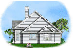 Traditional House Plan Side View Photo - 011D-0057 | House Plans and More