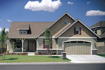 Ranch House Plan Front of Home - 011D-0076 | House Plans and More