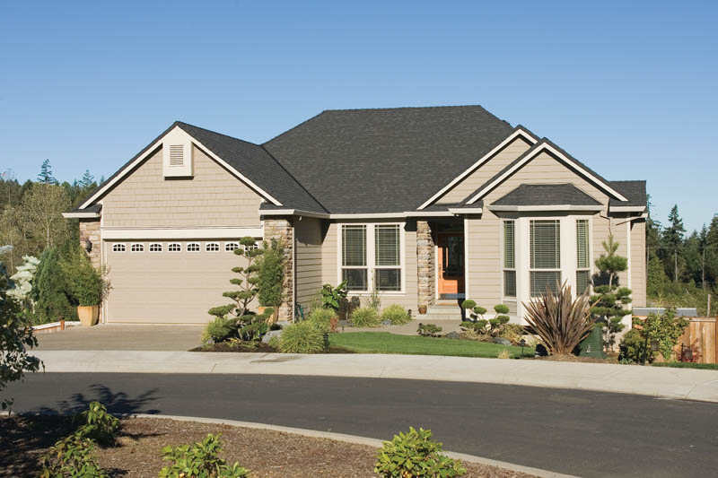Ranch House Plan Front of Home 011D-0078