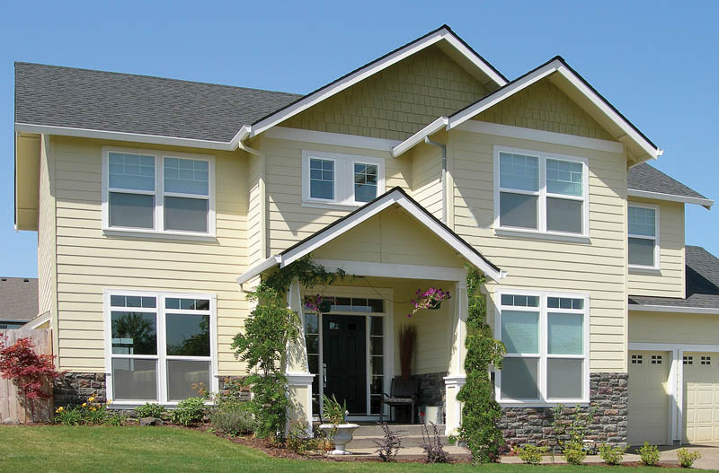 Shingle House Plan Front of Home 011D-0155