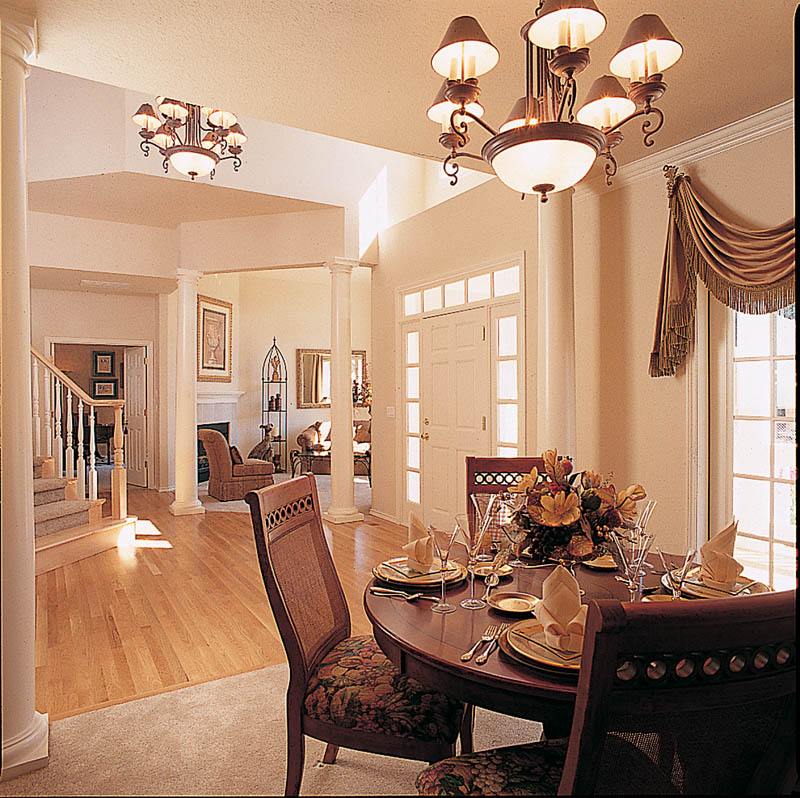 Farmhouse plan dining room photo 01 plan 011d 0190 house plans and more Dining room plan