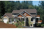 Craftsman House Plan Front of Home - 011D-0196 | House Plans and More