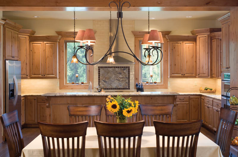 Prairie Style Floor Plan Dining Room Photo 01 011D-0220