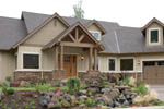 Spacious Craftsman Style Home With Angled Three-Car Garage