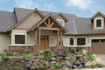 Rustic Home Plan Front Photo 01 - 011D-0220 | House Plans and More