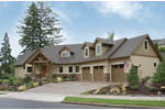 Prairie Style Floor Plan Front Photo 02 - 011D-0220 | House Plans and More