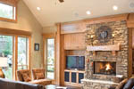 Rustic Home Plan Living Room Photo 01 - 011D-0220 | House Plans and More