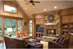 Rustic Home Plan Living Room Photo 03 - 011D-0220 | House Plans and More