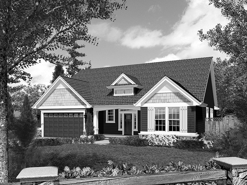 Ranch House Plan Front Image of House - 011D-0223 | House Plans and More
