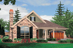 English Cottage House Plan Front Image -  011D-0224   House Plans and More