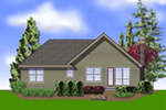 Ranch House Plan Color Image of House - 011D-0224 | House Plans and More