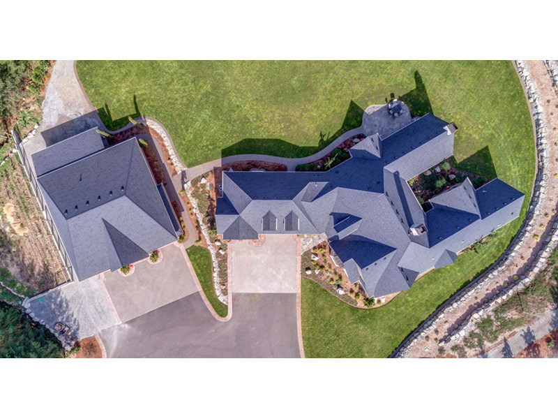 Ranch House Plan Aerial View Photo 01 - 011D-0229 | House Plans and More