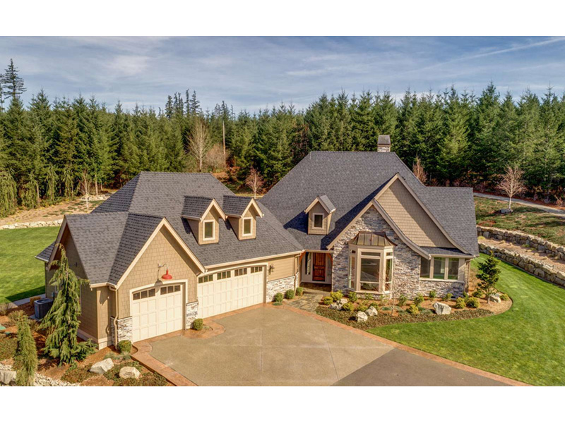 Ranch House Plan Aerial View Photo 02 - 011D-0229 | House Plans and More