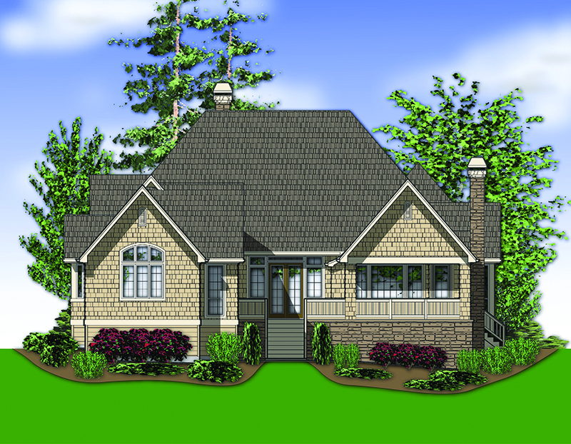 Ranch House Plan Color Image of House - 011D-0229 | House Plans and More