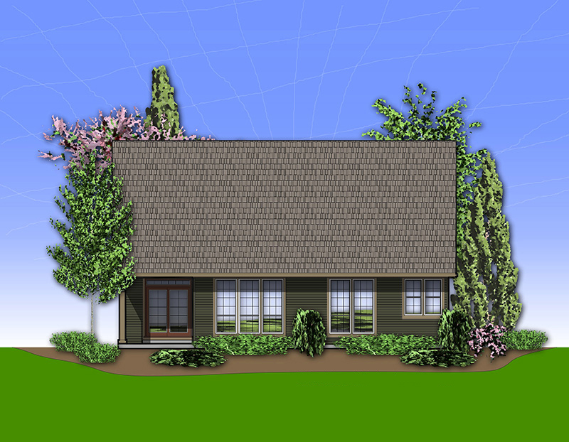 Arts & Crafts House Plan Rear Photo 01 - 011D-0233 | House Plans and More
