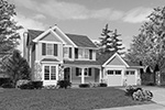 Traditional House Plan Front Image of House - 011D-0245 | House Plans and More