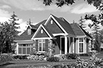 Rustic Home Plan Front Image of House - 011D-0246 | House Plans and More