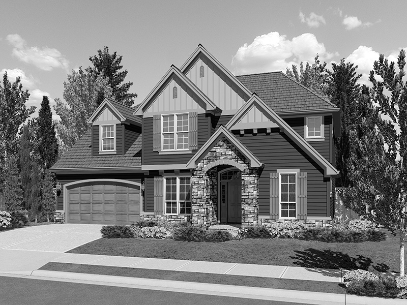Craftsman House Plan Front Image of House - 011D-0248 | House Plans and More