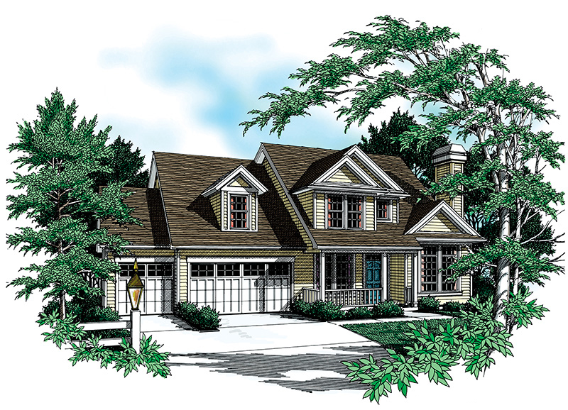 Traditional House Plan Front Image - 011D-0258 | House Plans and More