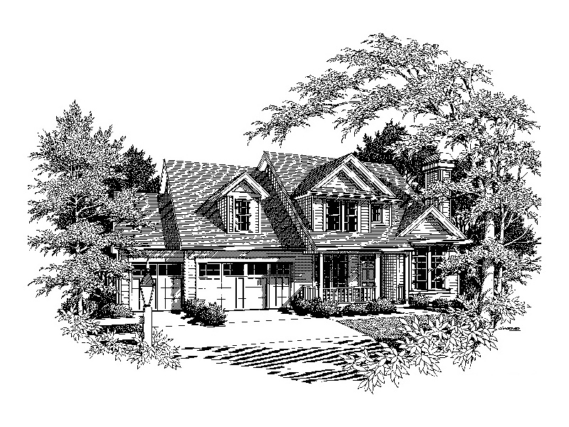 Traditional House Plan Front Image of House - 011D-0258 | House Plans and More