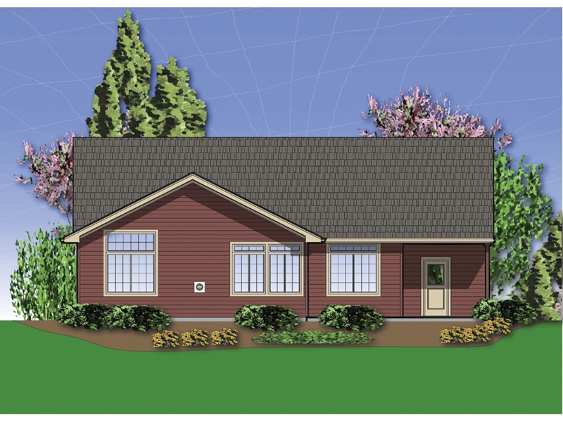 Ranch House Plan Rear Photo 01 - 011D-0286 | House Plans and More