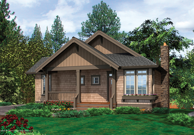 Vacation House Plan Front of Home - 011D-0292 | House Plans and More