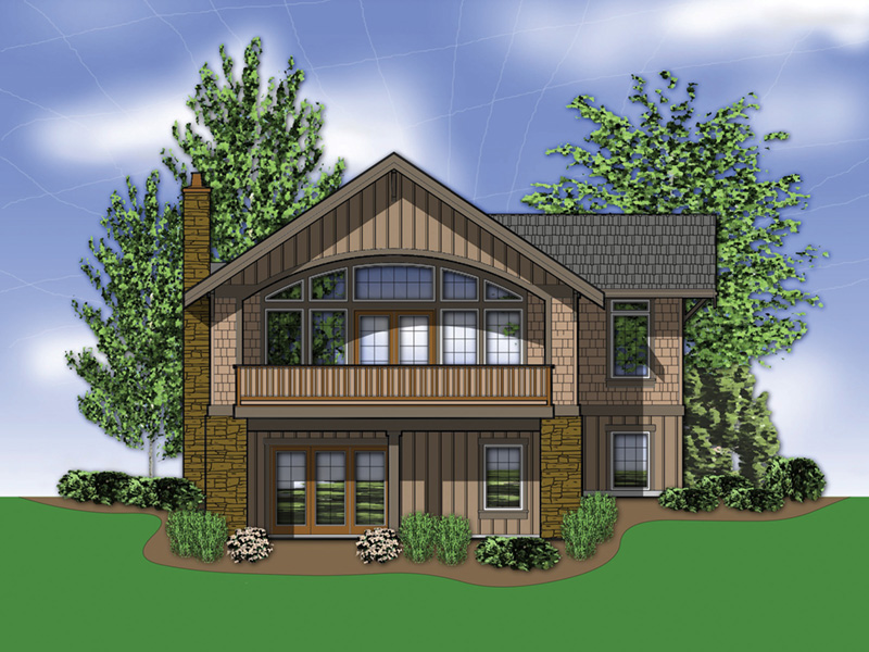Vacation House Plan Rear Photo 01 - 011D-0292 | House Plans and More