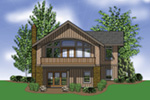 Waterfront House Plan Rear Photo 01 - 011D-0292 | House Plans and More