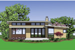 Cabin & Cottage House Plan Rear Photo 01 - 011D-0293 | House Plans and More