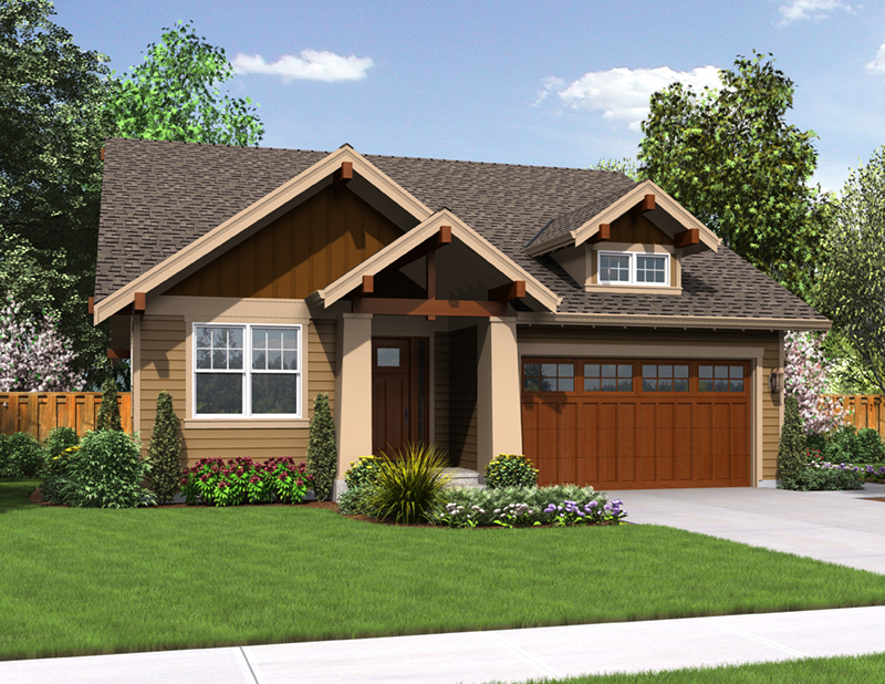 Arts & Crafts House Plan Front of Home - Holbrook Craftsman Home 011D-0307 | House Plans and More