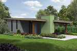 Florida House Plan Front of Home - Tate Modern Home 011D-0314 | House Plans and More