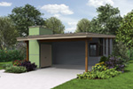 Florida House Plan Front Photo 01 - Tate Modern Home 011D-0314 | House Plans and More