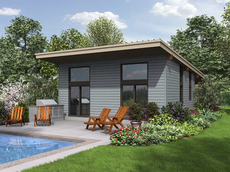 Florida House Plan Rear Photo 01 - Tate Modern Home 011D-0314 | House Plans and More
