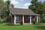 Rustic Home Plan Rear Photo 01 - 011D-0315 | House Plans and More