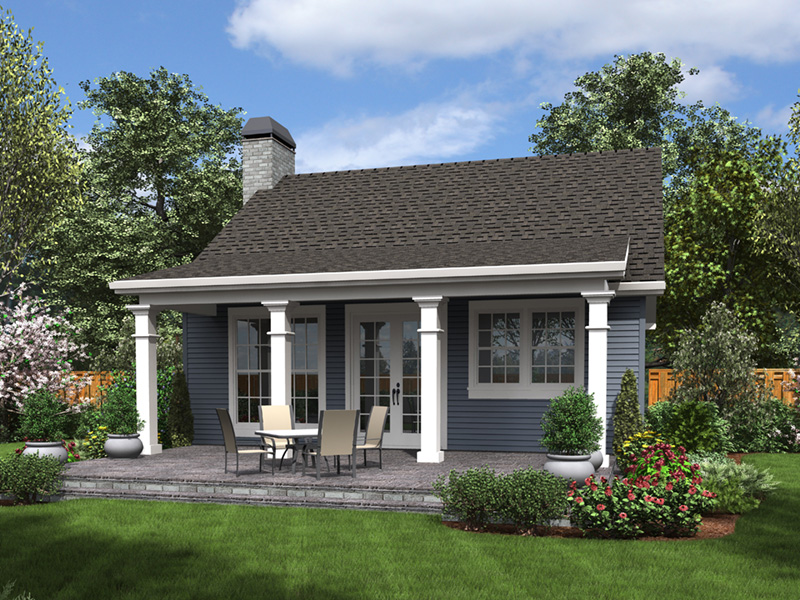 Cabin & Cottage House Plan Rear Photo 01 - 011D-0316 | House Plans and More