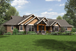 Rustic Home Plan Front Image - Leigh Lane Country Ranch Home 011D-0347 | House Plans and More