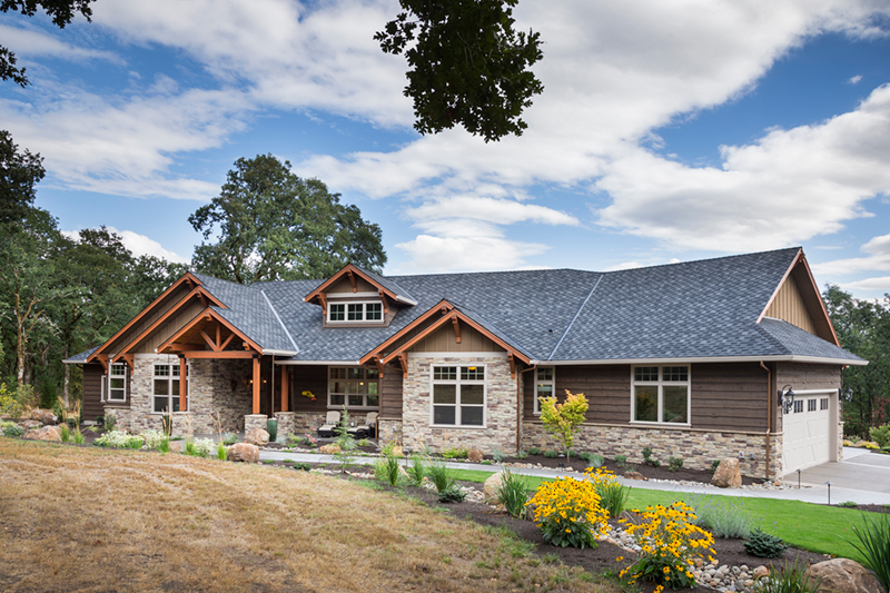 Rustic Home Plan Front of Home - Leigh Lane Country Ranch Home 011D-0347 | House Plans and More