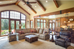 Rustic Home Plan Great Room Photo 01 - Leigh Lane Country Ranch Home 011D-0347 | House Plans and More