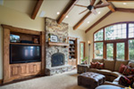 Rustic Home Plan Great Room Photo 02 - Leigh Lane Country Ranch Home 011D-0347 | House Plans and More