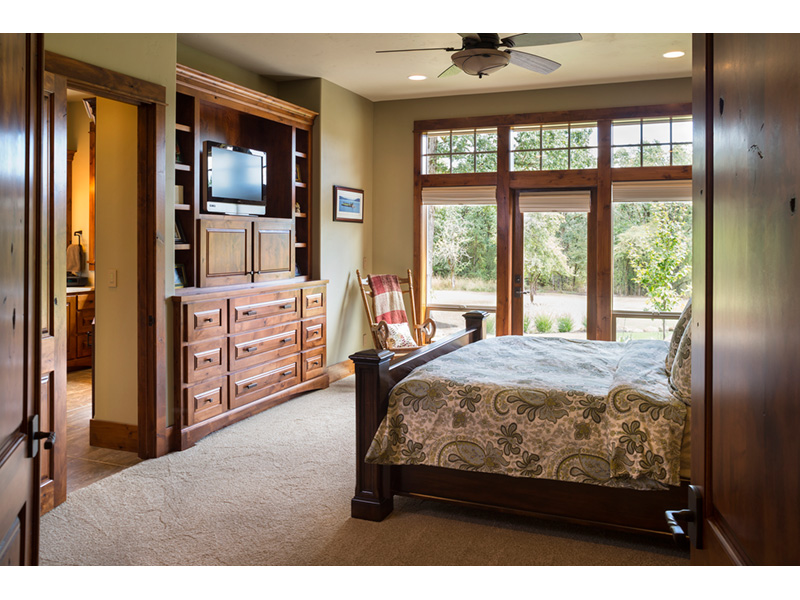 Rustic Home Plan Master Bedroom Photo 01 - Leigh Lane Country Ranch Home 011D-0347 | House Plans and More